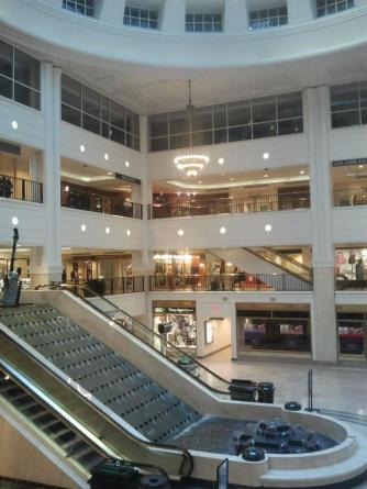 One of two shopping atriums inside the Tower City complex