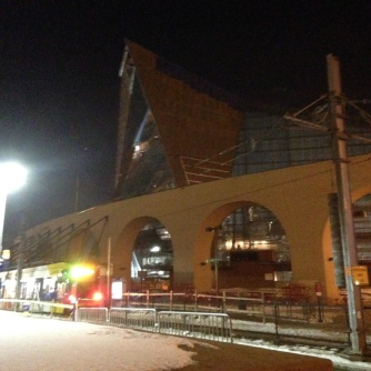 This station will soon get a new pedestrian leading bridge across the tracks to the new Vikings Stadium