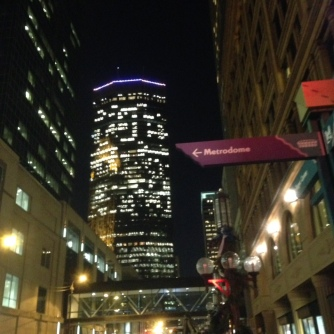 Looking toward the IBS Tower from the Nicollet Mall