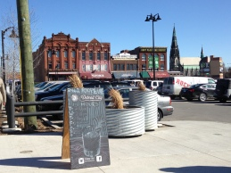 Parking lot in front of the market - that Gothic bldg across the lot is the famed DeVries General Store