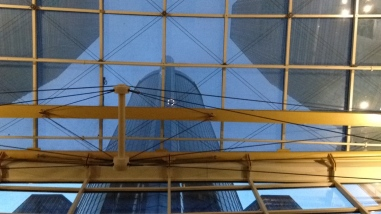 Looking up at the Ren Cen's main tower