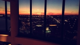Sunset looking southwest