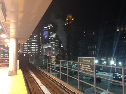 Getting back on the People Mover at the Ren Cen