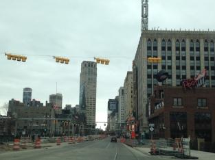 Woodward Avenue entering downtown