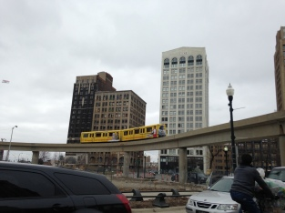 People Mover going around the Grand Circus