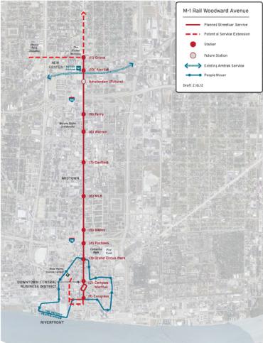 m-1-rail-route-map