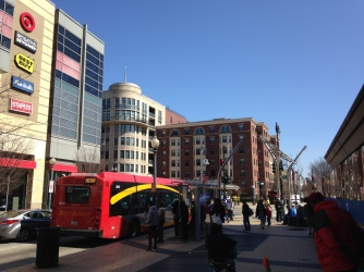 DC Circulator stopping at 14th and Linwood