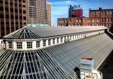 The roof of the iconic Cleveland Arcade